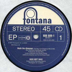 "Was (Not Was) - Walk The Dinosaur (12"", EP) (VG) - natural selection vinyl records"