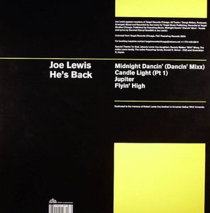 "Joe Lewis - He's Back (12"") (VG+) - natural selection vinyl records"