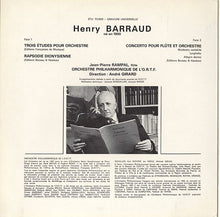 Load image into Gallery viewer, Henry Barraud - Trois Études Pour Orchestre • Rapsodie Dionysienne • Concerto Pour Flûte Et Orchestre (LP) (NM or M-) - natural selection vinyl records