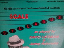 Load image into Gallery viewer, David Liebman, Jamey Aebersold - The Scale Syllabus By David Liebman And Jamey Aebersold (2xLP) (VG+) - natural selection vinyl records