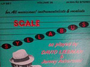 David Liebman, Jamey Aebersold - The Scale Syllabus By David Liebman And Jamey Aebersold (2xLP) (VG+) - natural selection vinyl records