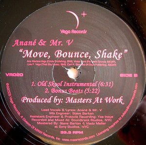 "Anané & Mr. V (4) - Move, Bounce, Shake (12"") (VG+) - natural selection vinyl records"