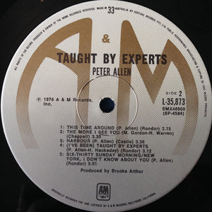 Peter Allen - Taught By Experts (LP, Album) (NM or M-) - natural selection vinyl records
