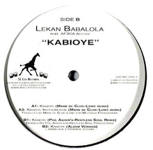 "Load image into Gallery viewer, Lekan Babalola Feat. Af3ca Antoine - Kabioye (12"") (VG+) - natural selection vinyl records"