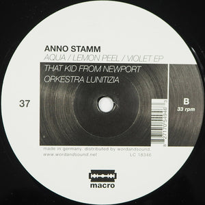 "Anno Stamm - Aqua / Lemon Peel / Violet EP (12"", EP) (VG+) - natural selection vinyl records"