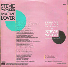 "Load image into Gallery viewer, Stevie Wonder - Part-Time Lover (7"", Single) (VG+) - natural selection vinyl records"