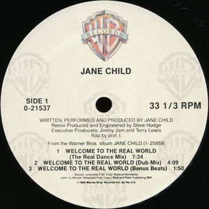 "Jane Child - Welcome To The Real World (12"") (NM or M-) - natural selection vinyl records"