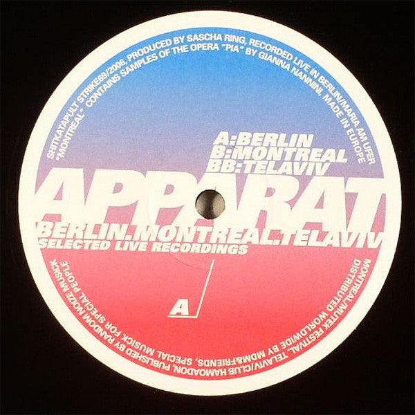 Apparat - Berlin, Montreal, Tel Aviv (Selected Live Recordings) (12