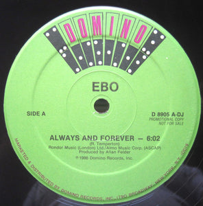 "Ebo (2) - Always And Forever (12"", Promo) (NM or M-) - natural selection vinyl records"