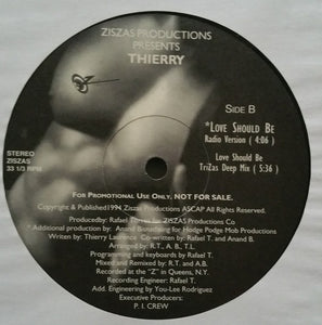 "Thierry - Ziszas Productions Presents Thierry (12"", Promo) (VG+) - natural selection vinyl records"