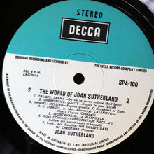 Load image into Gallery viewer, Joan Sutherland - The World Of Joan Sutherland (LP, Comp) (VG+) - natural selection vinyl records