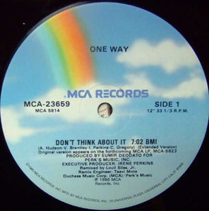 "One Way - Don't Think About It (12"") (G+) - natural selection vinyl records"