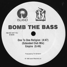 "Load image into Gallery viewer, Bomb The Bass - One To One Religion (12"", Promo) (VG) - natural selection vinyl records"