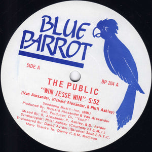 "The Public - Win Jesse Win (12"") (VG+) - natural selection vinyl records"