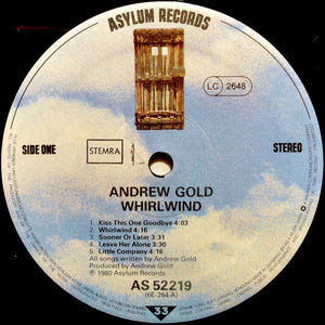 Andrew Gold - Whirlwind (LP, Album) (VG+) - natural selection vinyl records