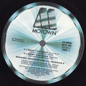 "Michael Jackson With The Jackson 5 - I Want You Back (88 Remix) (12"", Single) (VG) - natural selection vinyl records"