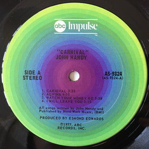 John Handy - Carnival (LP, Album) (VG+) - natural selection vinyl records