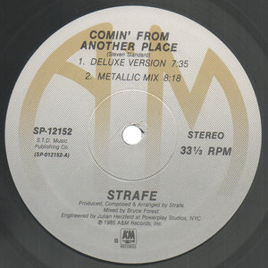 "Strafe - Comin' From Another Place (12"") (VG+) - natural selection vinyl records"