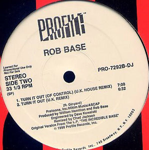 "Rob Base - Get Up And Have A Good Time / Turn It Out (12"", Promo) (VG+) - natural selection vinyl records"