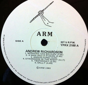 Andrew Richardson (10) - Andrew Richardson Music (LP, Album) (NM or M-) - natural selection vinyl records
