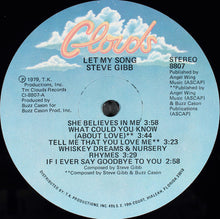 Load image into Gallery viewer, Steve Gibb - Let My Song (LP, Album, Vol) (VG) - natural selection vinyl records