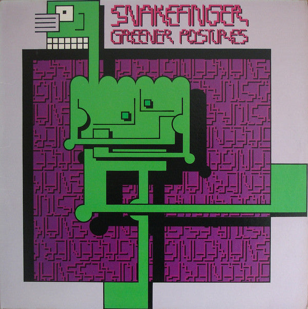 Snakefinger - Greener Postures (LP, Album) (VG+) - natural selection vinyl records