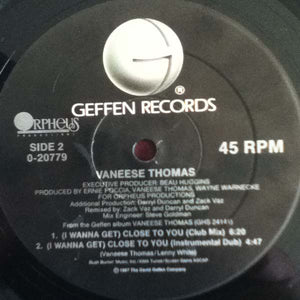 "Vaneese Thomas - I Wanna Get Close To You (12"", Maxi) (NM or M-) - natural selection vinyl records"