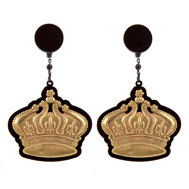 EARRINGS CORONE BLACK