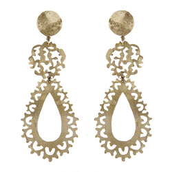 EARRINGS BYZANTINE WHITE BRONZE