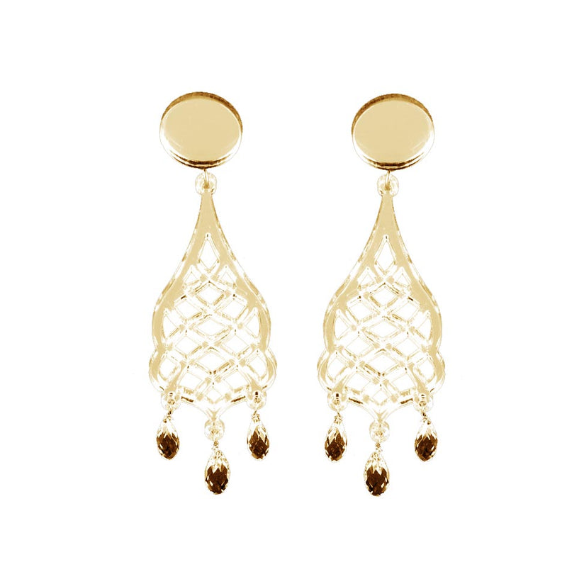 EARRINGS ALI BABA' MIRROR GOLD