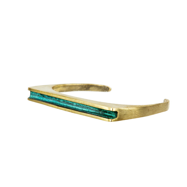 BRACELET STIRRUP GOLD BRONZE & PATINA