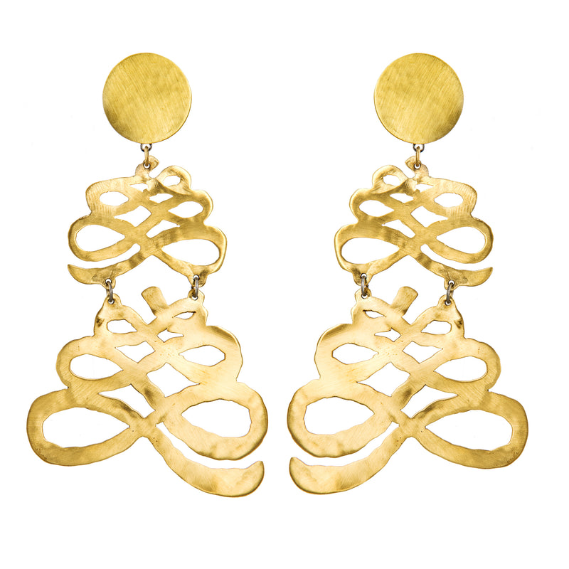 EARRINGS TAPES GOLD BRONZE