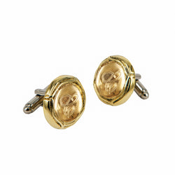 CUFFLINKS CAPSULE GOLD BRONZE & CUSTOMIZATION