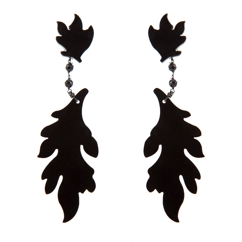 EARRINGS FOGLIE BLACK