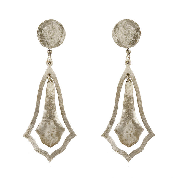 EARRINGS GOTIC WHITE BRONZE
