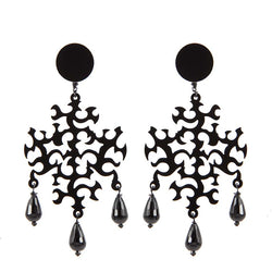 EARRINGS CROCI  BLACK
