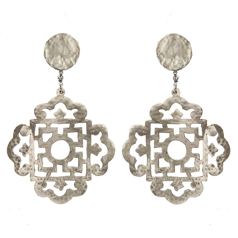 EARRINGS JAPANESE WHITE BRONZE