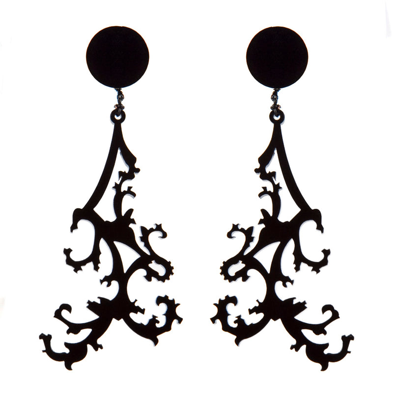 EARRINGS RAMAGE BLACK