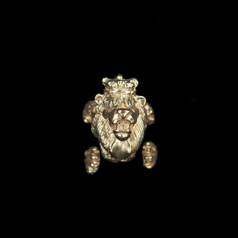 RING LION GOLD BRONZE
