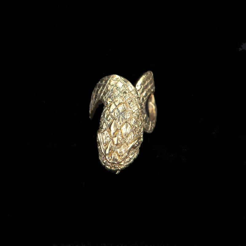 RING SNAKE GOLD BRONZE