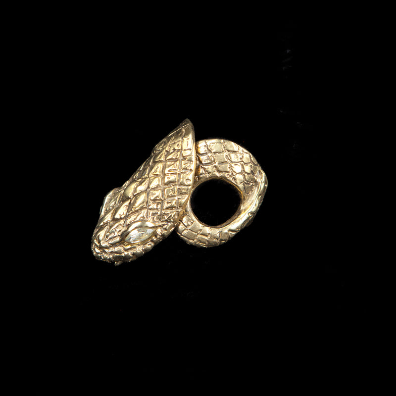 RING SNAKE GOLD BRONZE  WITH CRYSTAL ZIRCONS