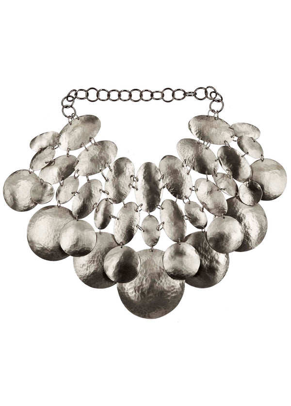 NECKLACE ASTEROIDI WHITE BRONZE