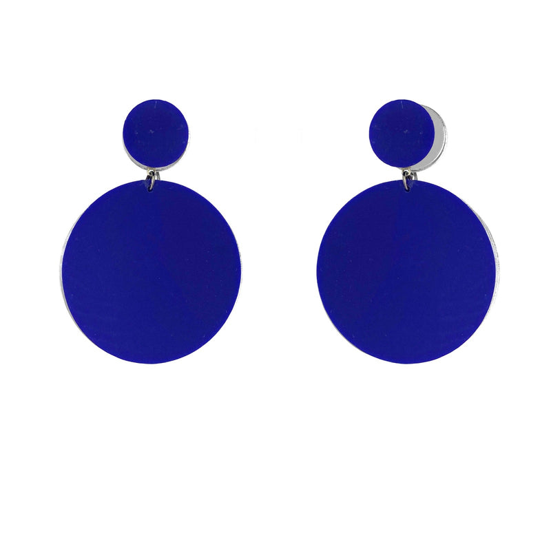 EARRINGS MINI DOTS BLUE