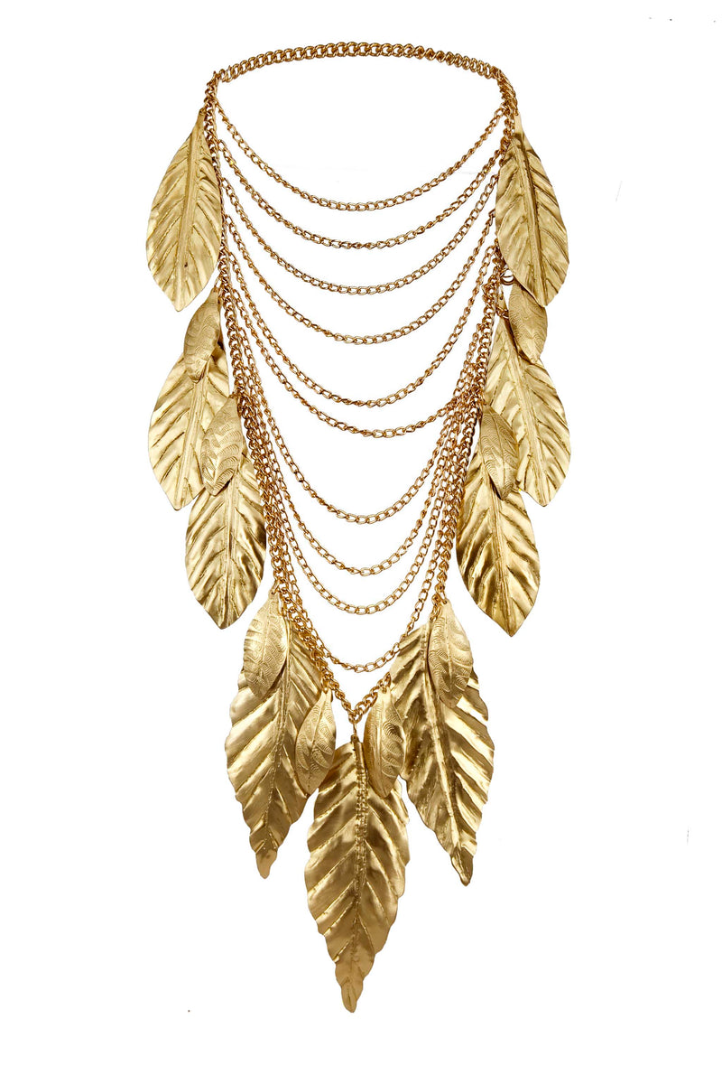 NECKLACE FOREST GOLD BRONZE