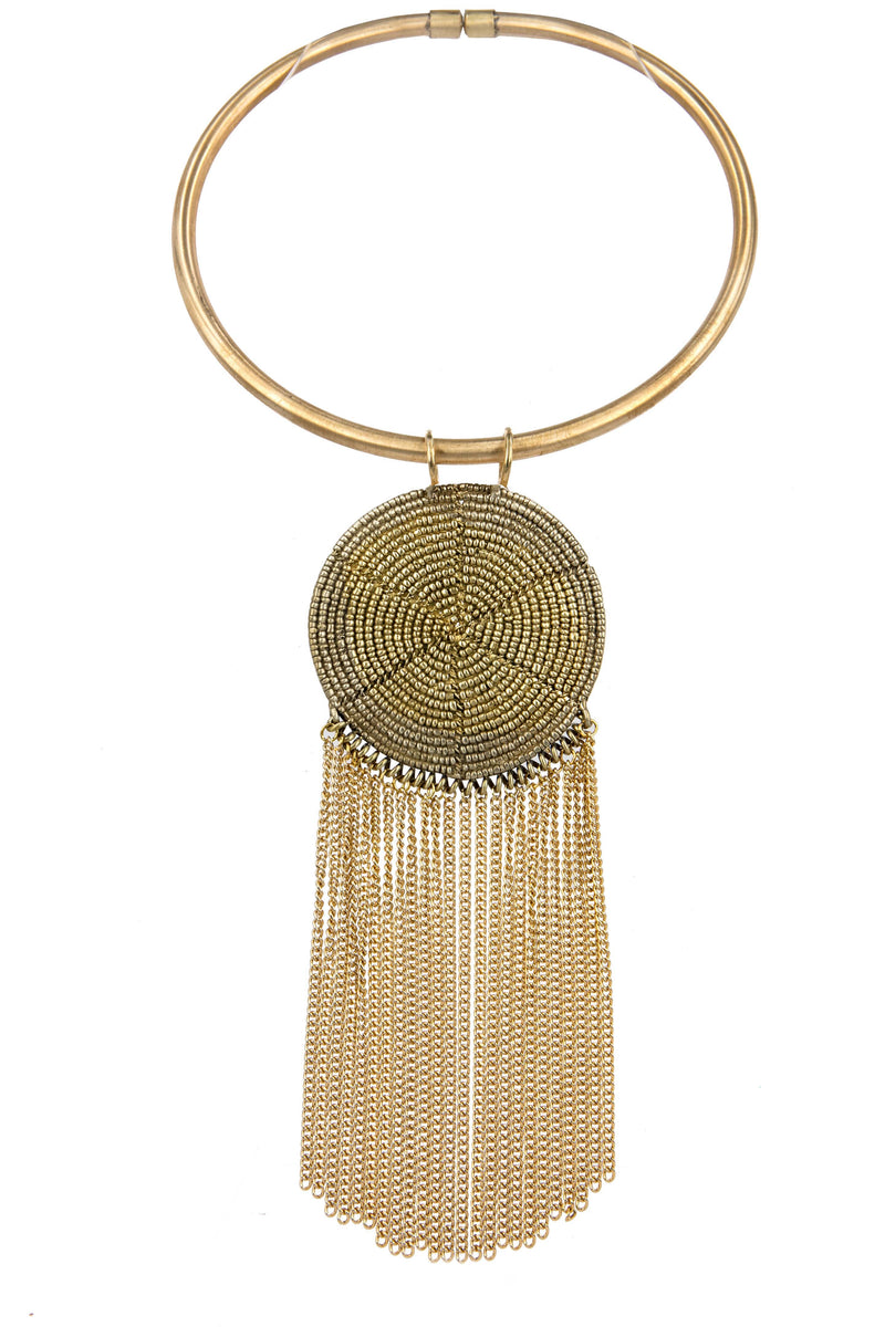 NECKLACE MASAI GOLD BRONZE