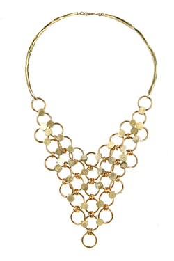 NECKLACE RAINDROPS CASCADE GOLD BRONZE