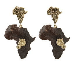 EARRINGS AFRICA RHINOS