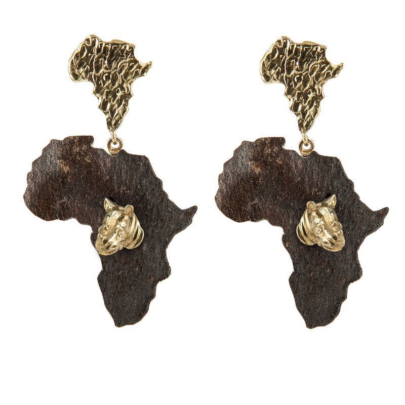 EARRINGS AFRICA HIPPOPOTAMUS