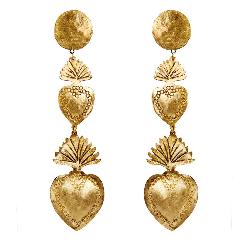 EARRINGS EX VOTO GOLD BRONZE