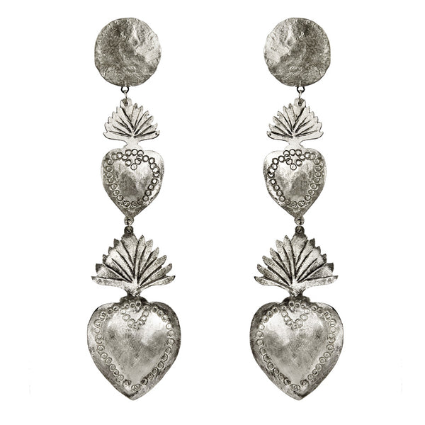 EARRINGS EX VOTO WHITE BRONZE